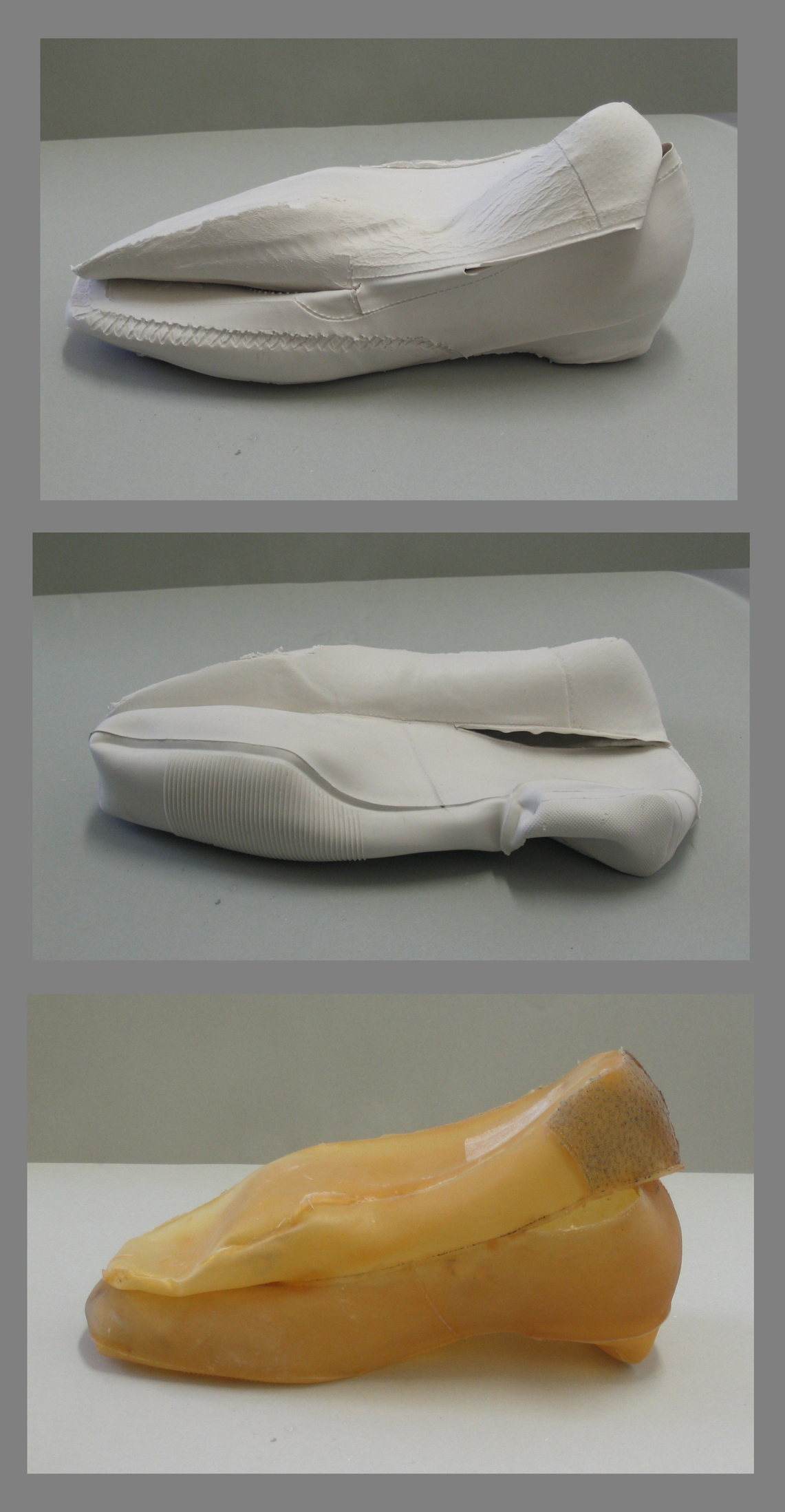 05 Inside and Outside of Shoes, 2008, silicone rubber and latex, various sizes
