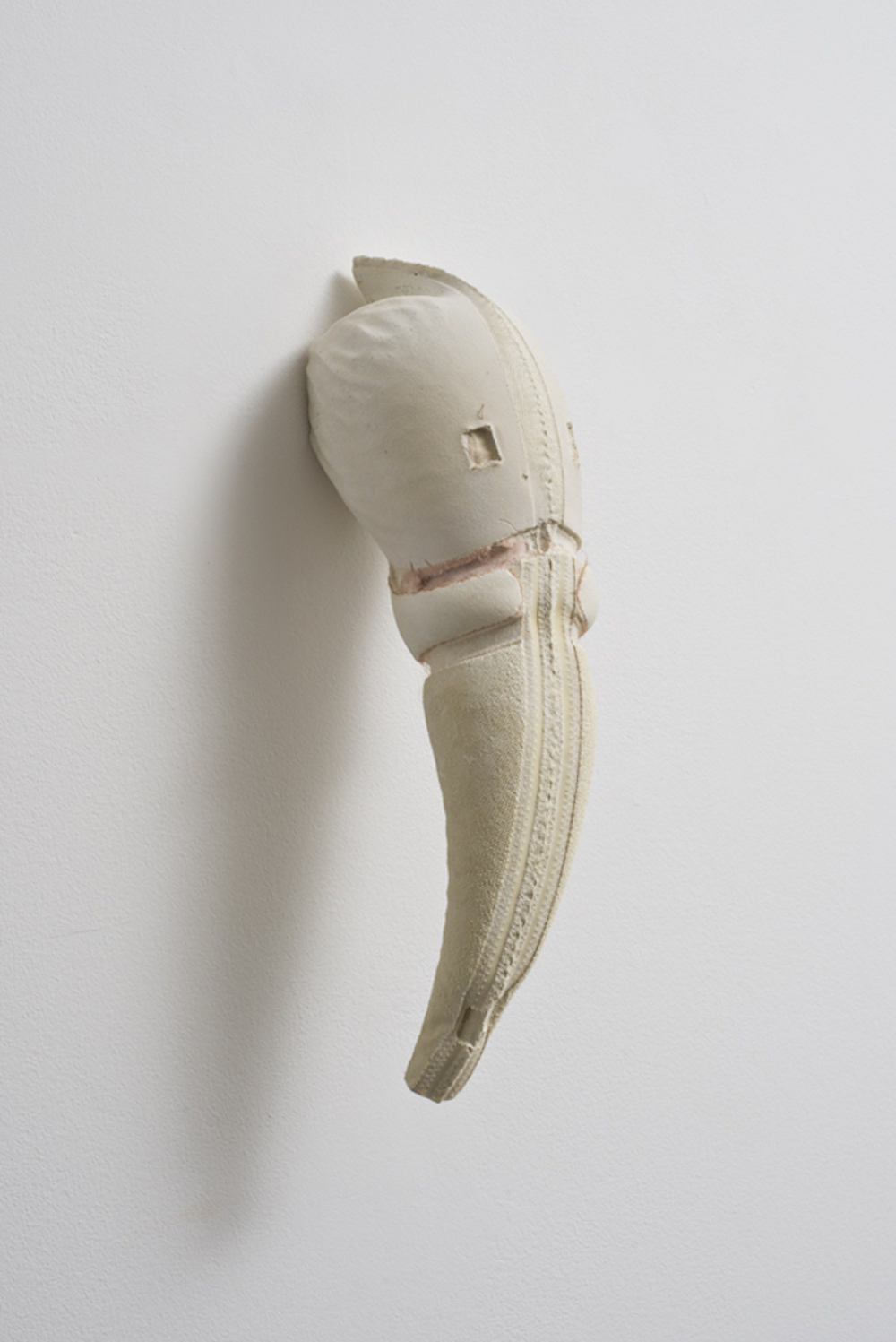 01 Untitled (STB), 2011, plaster 28 x 13 x 11 cm (cast of inside of a bra, one from series) photo Michael Brzezinski