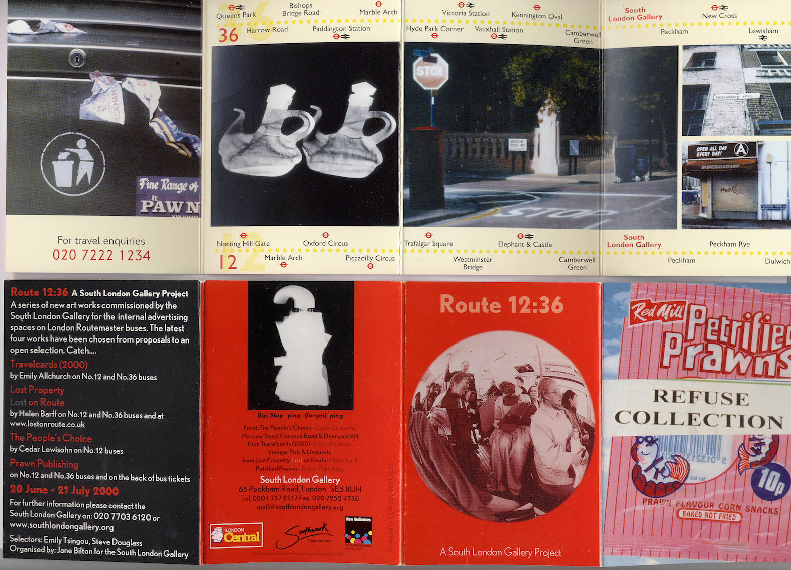 07 South London Gallery information leaflet, Route 12�36, 2000